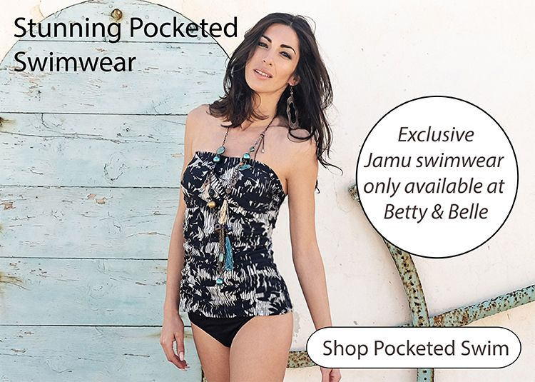Pocketed Swimwear perfect for hold a breast Form